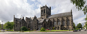 Paisley Abbey - Paisley Abbey from the south west.