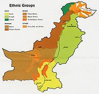 Major Ethnic Groups in Pakistan, 1973