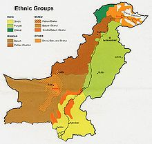 Major ethnic groups in Pakistan