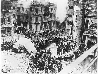 The Jerusalem Post - Palestine Post offices after car bomb attack, 1 February 1948, Jerusalem