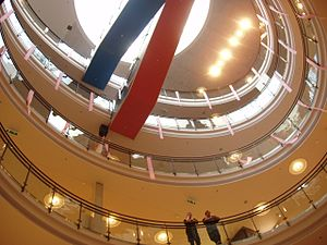 Lightwell - Kamppi Center, Helsinki, 2006. The lightwell helps reduce overall energy demands.