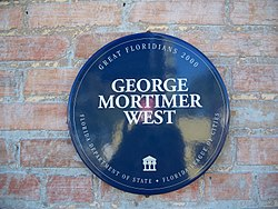 Photo of George Mortimer West blue plaque