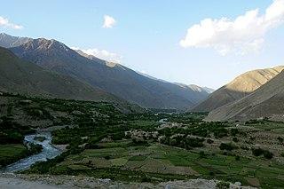 Panjshir Valley Natural formation in Afghanistan