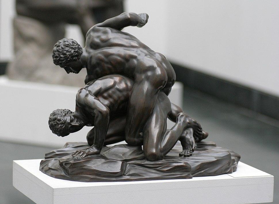 Pankratiasten in fight copy of greek statue 3 century bC