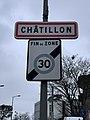 Panneau entrée Châtillon Rue Fort - Châtillon (FR92) - 2021-01-03 - 2.jpg