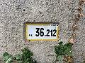 Panonceau PK 36,212 Route D28 Route Bâgé Crottet 2.jpg
