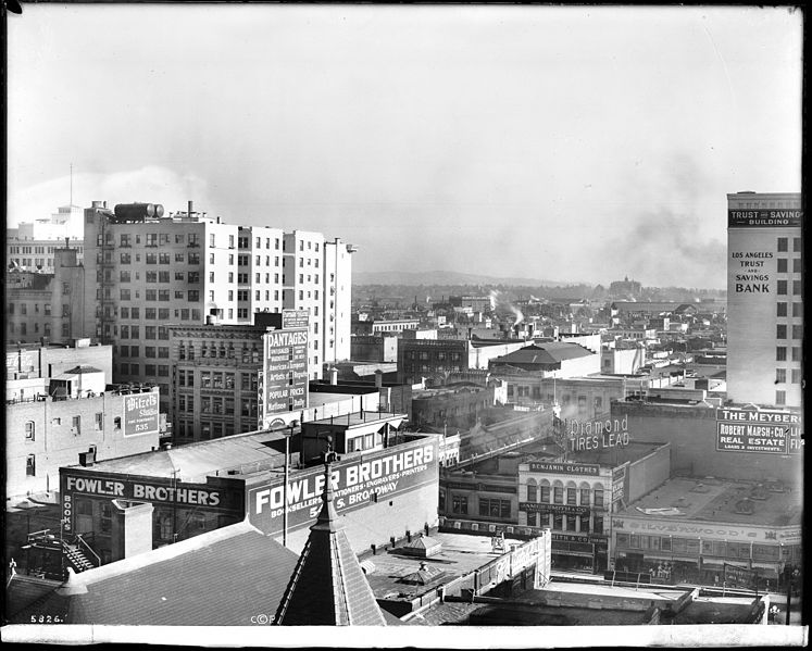 File panoramic view of los angeles looking north from a building on the corn - Panoramic les angles ...