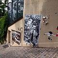 Paris rue du Calvaire vers rue Gabrielle 20120715.jpg