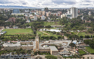 Parliament of Kenya - Image: Parliament Buildings and Uhuru Park, Nairobi