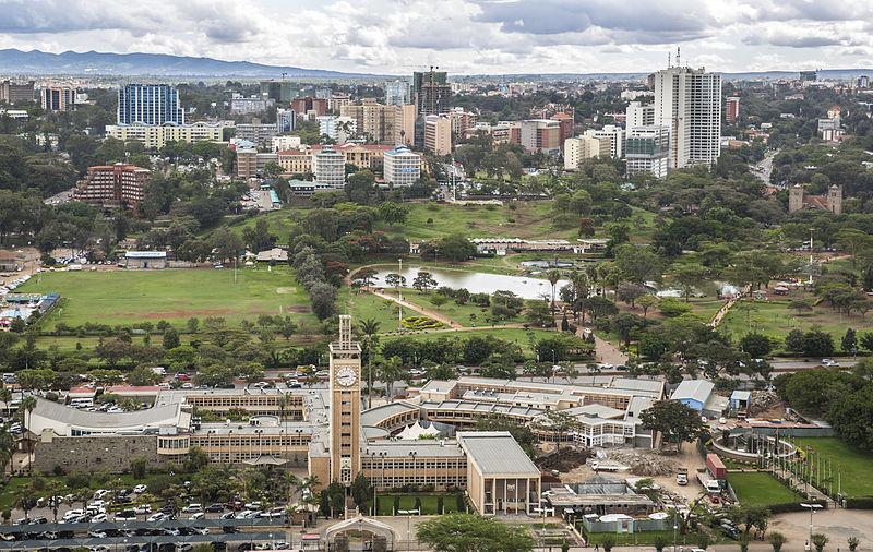 File:Parliament Buildings and Uhuru Park, Nairobi.jpg