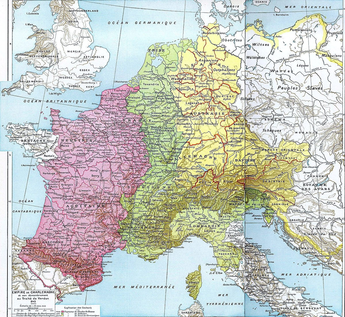 Proclamation of Charlemagne as emperor. The emergence and disintegration of the empire of Charlemagne