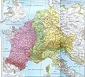 Partage de l'Empire carolingien au Traité de Verdun en 843.JPG