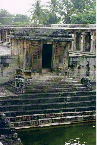Irrigation tank - Image: Partial view of Kalyani (tank) in the Chennakeshava temple at Belur