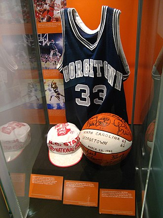 Big East Conference Men's Basketball Player of the Year - Image: Patrick Ewing jersey