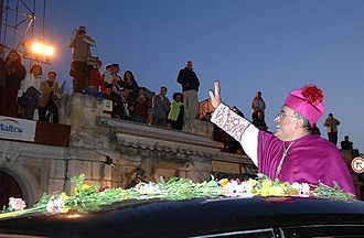 Paul Cremona - Mgr Cremona arriving in Valletta as new Archbishop of Malta