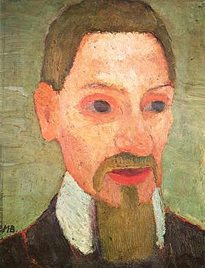 Rainer Maria Rilke - Paula Modersohn-Becker (1876–1907), an early expressionist painter, became acquainted with Rilke in Worpswede and Paris, and painted his portrait in 1906.