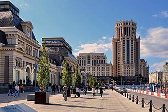 Moscow Paveletsky railway station - Paveletskaya railway station in Paveletskaya Square