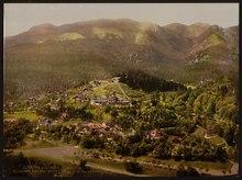 Pelesch (i.e., Peles) Castle, Kloster Sinaia, hotels, Kaserne, Ungarth and villas, Sinaia, Roumania-LCCN2001699421.tif