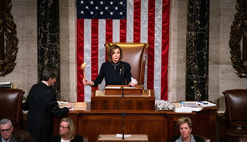 File:Pelosi announcing the results of impeachment.jpg