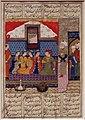 Periodo turkmeno, nushirwan manda mihran sitad a prendere la figlia del re di cina, shiraz 1482 ca.jpg