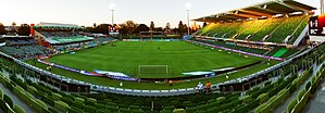 Perth Oval - Perth Oval Panorama following a Perth Glory match, January 2017