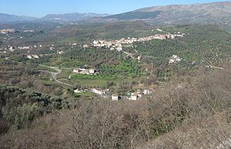 Vallo di Diano - Panoramic view of Pertosa.