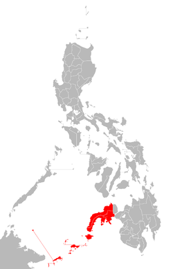 Location of Zamboanga
