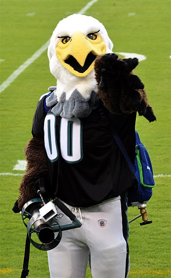 Swoop, the official mascot of the Philadelphia...