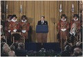 Photograph of President Reagan addressing British Parliament, London, England - NARA - 198531.tif