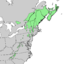 Picea rubens range map.png
