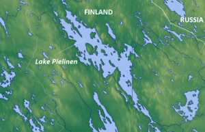 Pielinen - Map of the lake