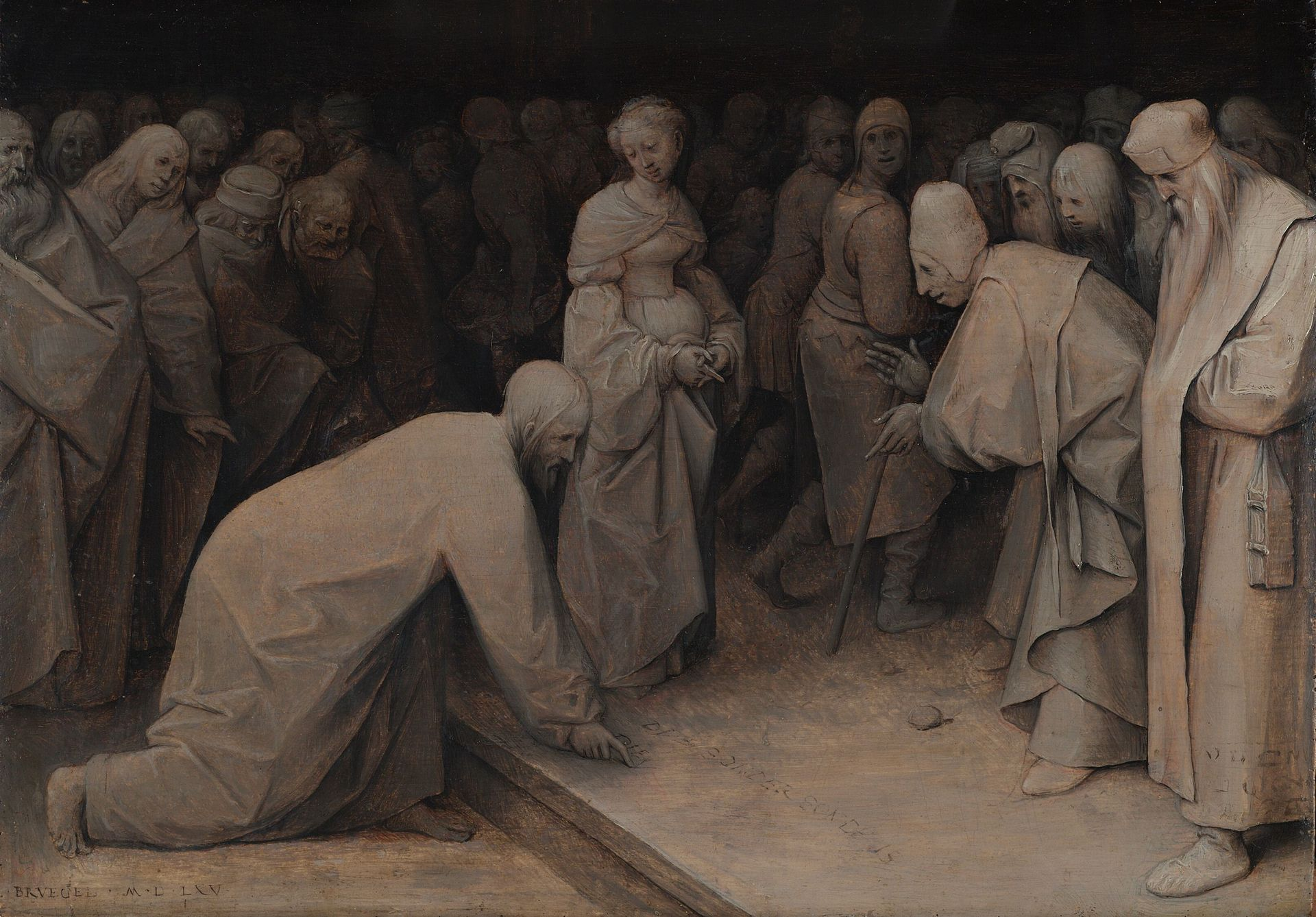 Питер Брейгель (I) - Христос и женщину, взятую в adultery.jpg