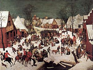Musée des Beaux Arts (poem) - Bruegel, The Massacre of the Innocents, 1565-7