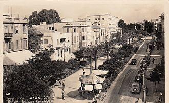 Tel Aviv - Rothschild Boulevard, circa 1930