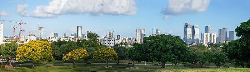 תל אביב מבט מפארק אדית וולפסון