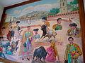 Pintura de la fiesta brava en Tlaxcala en el Museo Taurino Huamantla.JPG