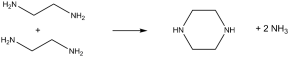 Synthese van piperazine