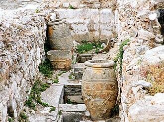 Economy - Storage room, Palace of Knossos.