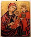 Pittore cretese, madre della consolazione e s. lorenzo, xvi-xvii secolo.JPG