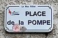 Place de la Pompe - panneau (Mas Rillier, Miribel).jpg