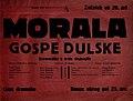 Plakat za predstavo Morala gospe Dulske v Narodnem gledališču v Mariboru 22. oktobra 1929.jpg