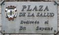 Plasencia (RPS 11-09-2015) Plaza de la Salud, indicador.png