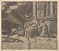 Plate 27- Proserpina gives Psyche the box of beauty, from 'The Fable of Cupid and Psyche' MET DP824481.jpg