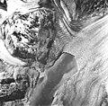 Plateau Glacier, tidewater glacier terminus and hanging glacier, August 22, 1965 (GLACIERS 5775).jpg