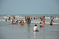 Playful People with Sea Waves - New Digha Beach - East Midnapore 2015-05-01 8692.JPG
