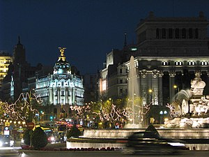 Largest capital cities of the European Union - Image: Plaza de Cibeles (Madrid) 05