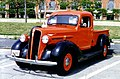 Plymouth pickup truck red and black Baltimore MD.jpg