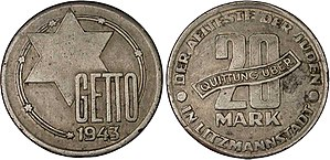 Pologne, 20 Mark du Ghetto de Lodz.jpg