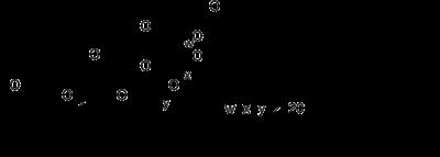 Schéma molekuly polysorbátu 80