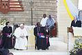 Pope Francis during a mass at St. Joseph Kangemi.jpg
